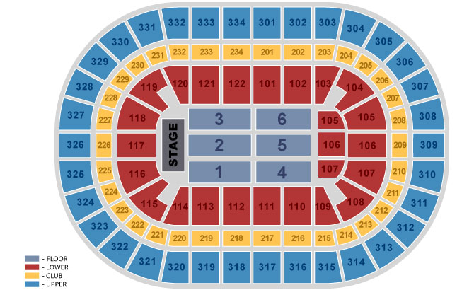 Concert 360 Floor Seating