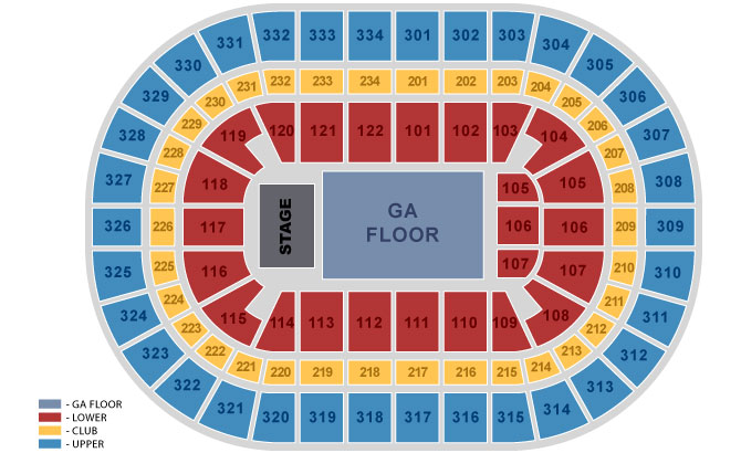 Seating charts united center