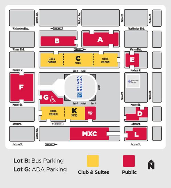United Center Chicago Map